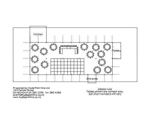 CAD Plan for a party